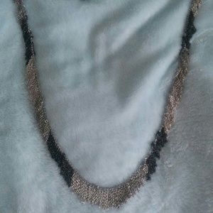 Silver and Charcoal Necklace
